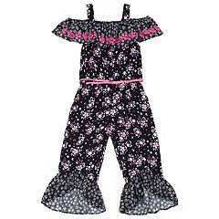 Girls 4-6x Little Lass Floral Jumpsuit