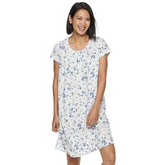Petite Croft   Barrow® Printed Nightgown. White Floral Gray Print Blue  Floral Yellow Butterfly Purple Texture Teal Scroll. sale 455184590