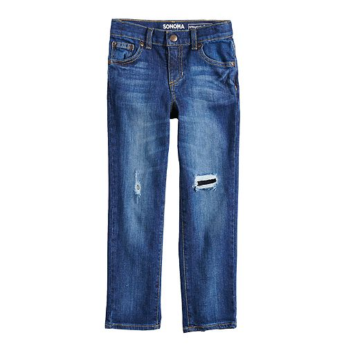 Boys 4-12 SONOMA Goods for Life® Distressed Ripped Straight Jeans