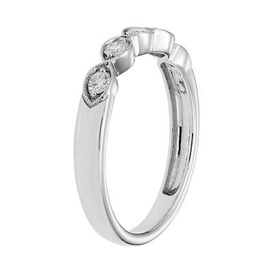 14k Gold 1/4 Carat T.W. IGL Certified Diamond 5-Stone Ring
