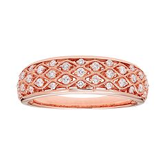 14k Gold 1/4 Carat T.W. IGL Certified Diamond Pave Ring