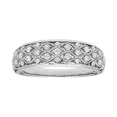 14k Gold 1/4 Carat T.W. IGL Certified Diamond Pave Ring