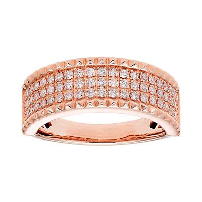 14k Gold 1/2 Carat T.W. IGL Certified Diamond Pave Ring