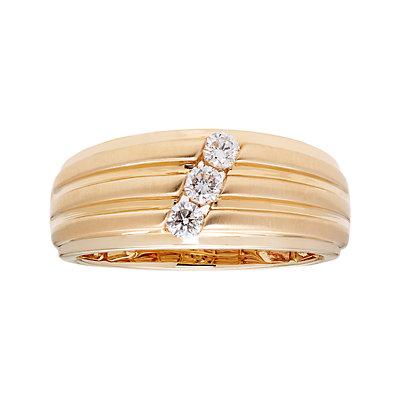Men's 14k Gold 1/3 Carat T.W. IGL Certified Diamond Ring