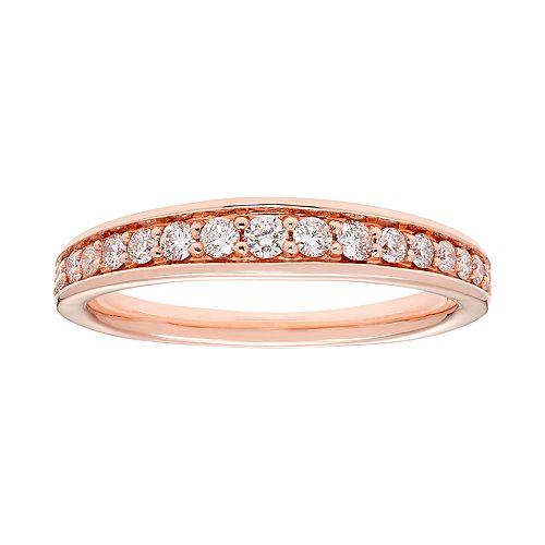 14k Gold 1/3 Carat T.W. IGL Certified Diamond Wedding Band