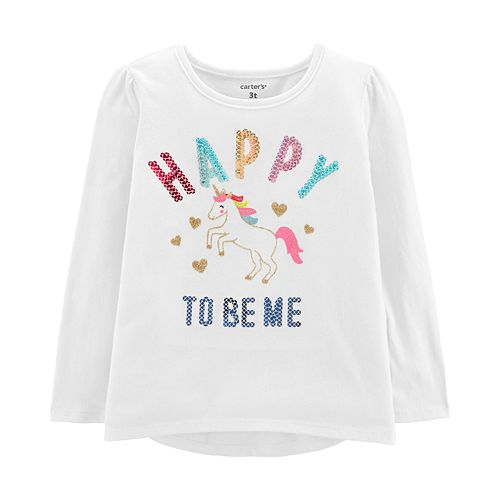 Baby Girl Carter's Sequined Graphic Tee
