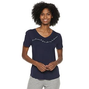 Women's SONOMA Goods for Life? Essential V-Neck Pajama Tee