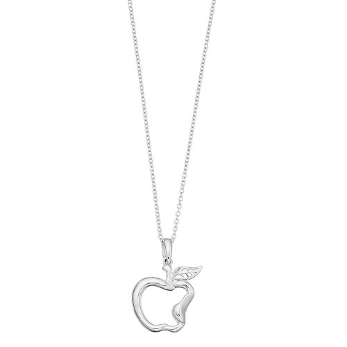 Disney's Snow White Sterling Silver Apple Pendant Necklace