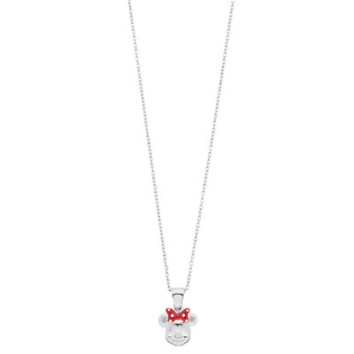 Disney's Minnie Mouse Sterling Silver Pendant Necklace