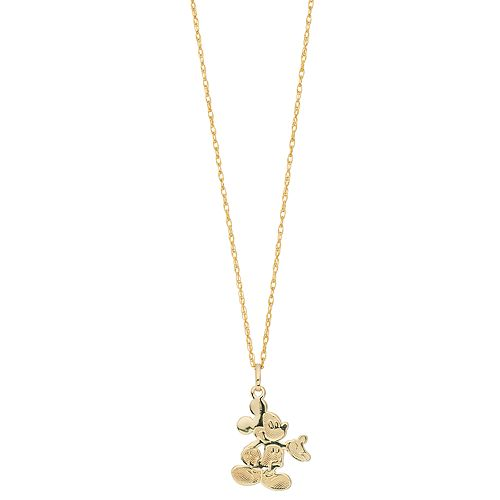 Disney's Mickey Mouse 10K Gold Pendant Necklace