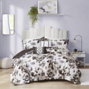 Intelligent Design Renee Floral Print Comforter Set