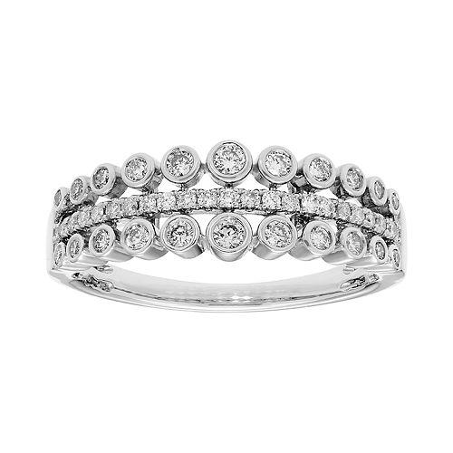 14k Gold 3/8 Carat T.W. IGL Certified Diamond Bezel Ring