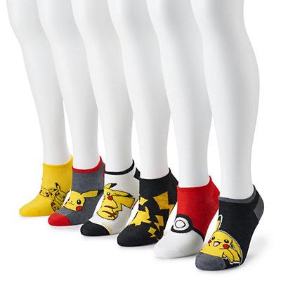 Women's Pokemon 6-Pack No-Show Socks