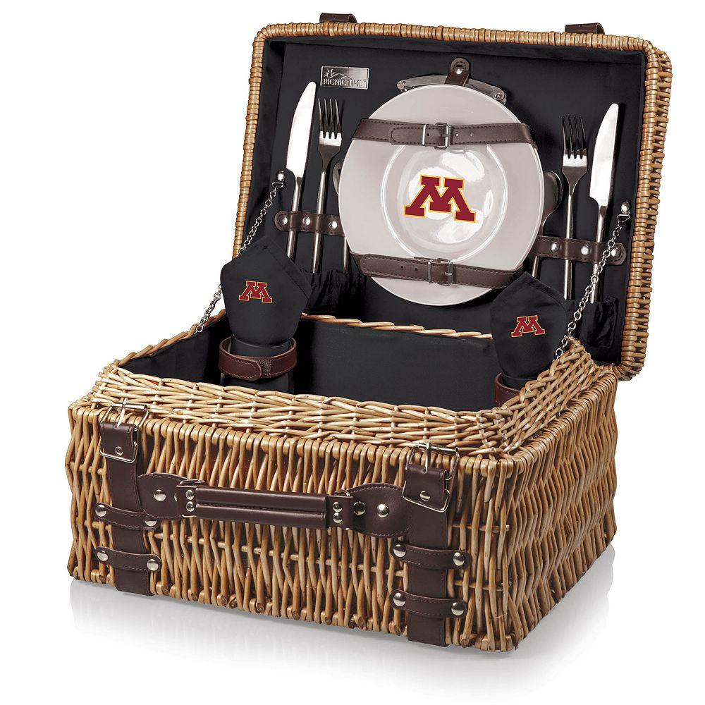 Picnic Time Minnesota Golden Gophers Champion Picnic Basket Set