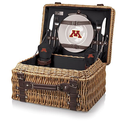 Picnic Time Minnesota Golden Gophers Champion Picnic Basket Set