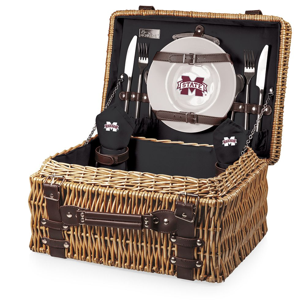 Picnic Time Mississippi State Bulldogs Champion Picnic Basket Set