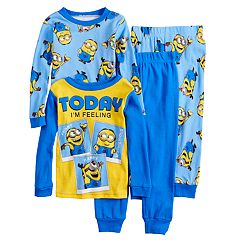 Boys 4-10 Minion 4-Piece Pajama Set
