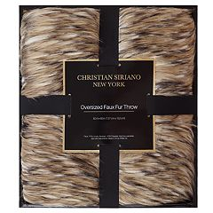 Christian Siriano Gold Metallic Gift Boxed Throw