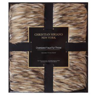 Christian Siriano Gold Metallic Gift Boxed Throw