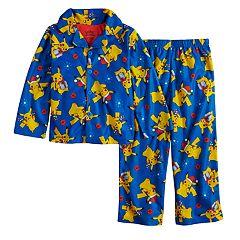 Boys 4-10 Pokemon Pikachu 2-Piece Pajama Set