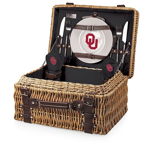 Picnic Time Oklahoma Sooners Champion Picnic Basket Set