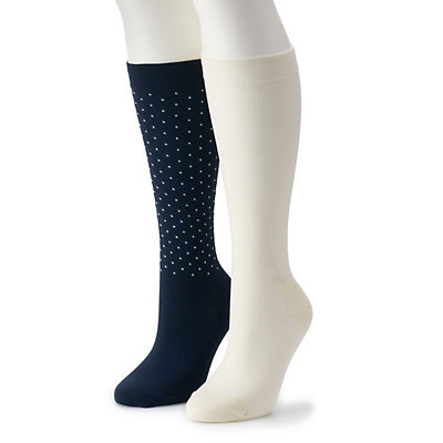 Women's Dr. Scholl's 2-Pair Graduated Compression Knee-High Socks