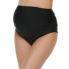 887b9a5045f08 Maternity Beach Scene Side-Ruched Brief Swim Bottom