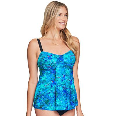 Women's Mazu Swim Tummy Slimmer Drape-Front Tankini Top