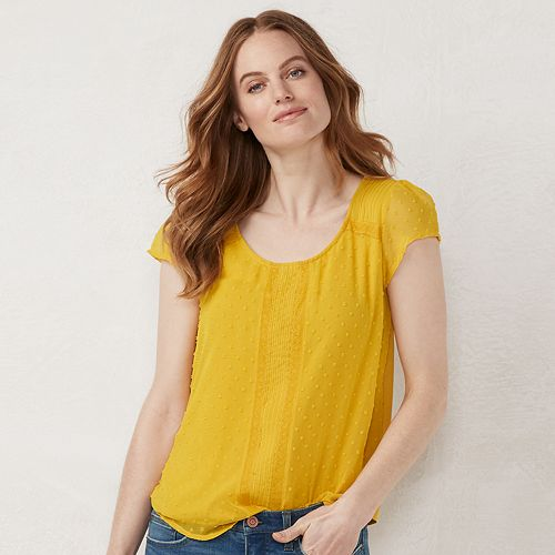 Women's LC Lauren Conrad Textured Dot Tee