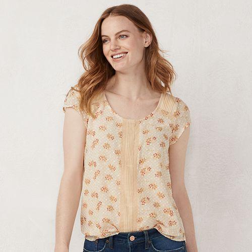 Women's LC Lauren Conrad Textured Dot Tee