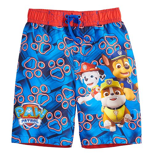 2558a24734cb4 Boys 4-7 Paw Patrol Rubble Marshall & Chase Swim Trunks
