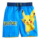 Boys 4-7 Pokemon Pikachu Swim Trunks