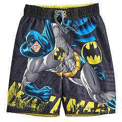 8dbd484767e06 Boys 4-7 DC Comics Batman Swim Trunks