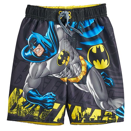 653861d9de Boys 4-7 DC Comics Batman Swim Trunks