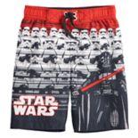 Boys 4-7 Star Wars Darth Vader & Stormtrooper Swim Trunks
