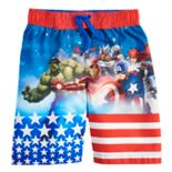 Boys 4-7 Marvel Avengers Patriotic Stars & Stripes Swim Trunks