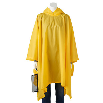 totes Unisex Hooded Packable Rain Poncho