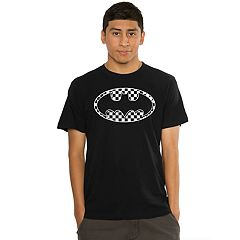 Men's Batman Checker Logo Tee