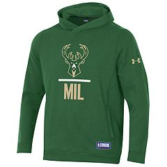 Men's Under Armour Milwaukee Bucks Lock Up Fleece Hoodie
