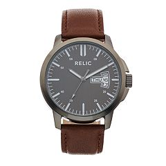 Relic by Fossil Men's Maddox Leather Watch