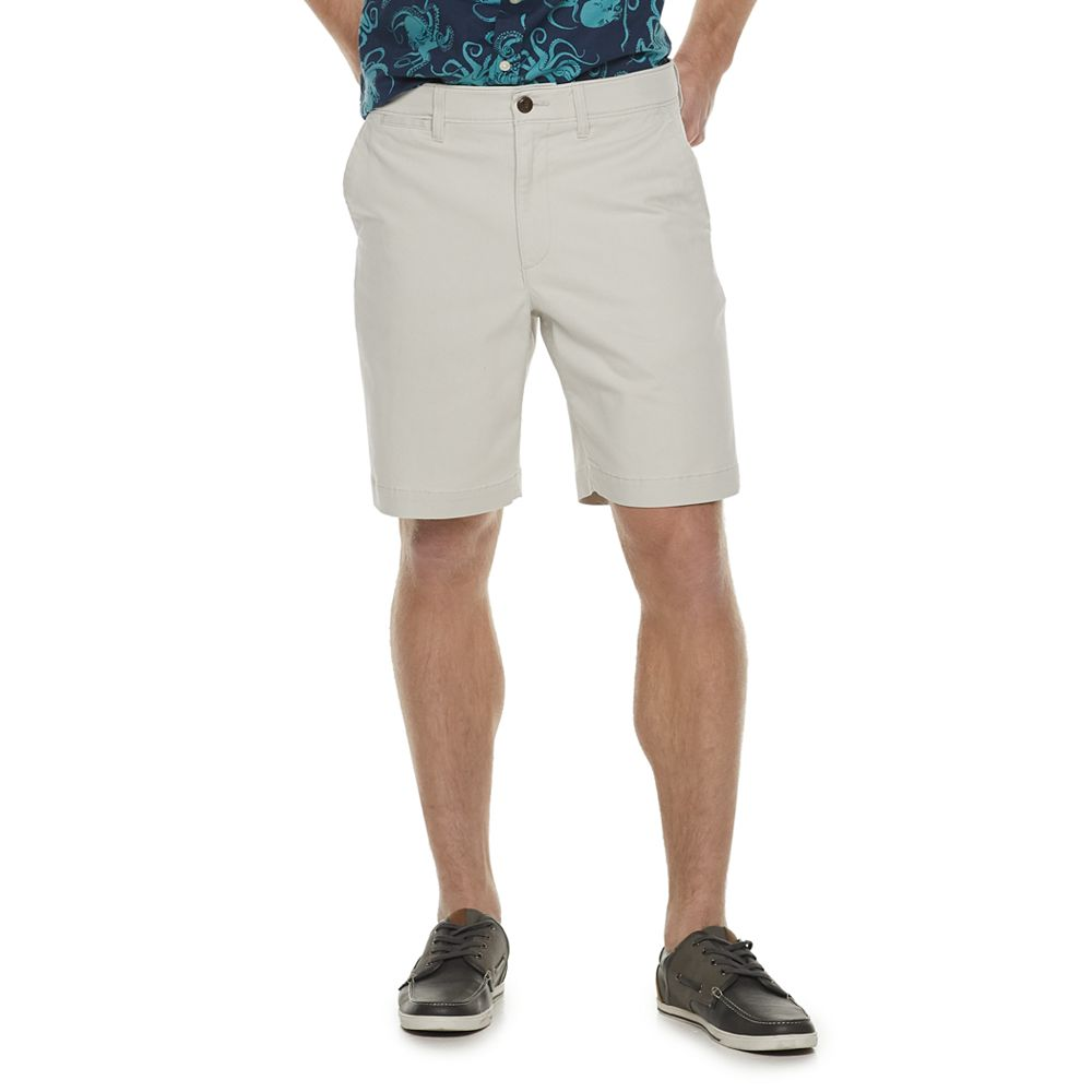 Men's SONOMA Goods for Life® Regular-Fit Stretch 9-inch Twill Flat-Front Shorts