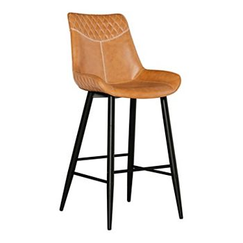 Linon Edler Quilted Bar Stool