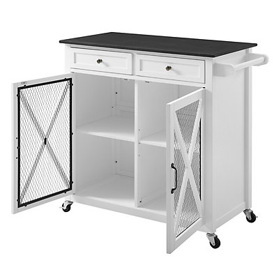 Linon Plantation X-Design Kitchen Cart