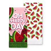 Celebrate Summer Together Watermelon Kitchen Towel 2-pk.