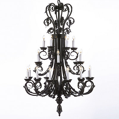 Gallery Iron 24-Light Chandelier