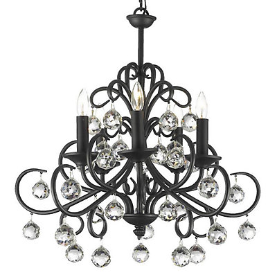 Gallery Iron 5-Light Chandelier
