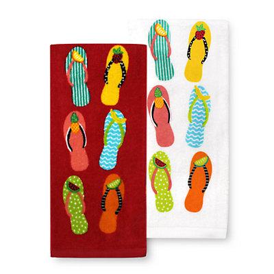 Celebrate Summer Together Flip-Flop Kitchen Towel 2-pk.