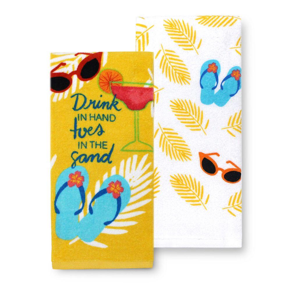 Celebrate Summer Together Drink in Hand Kitchen Towel 2-pk.