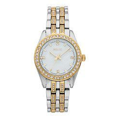 Relic Women's Iva Crystal Accent Two Tone Watch