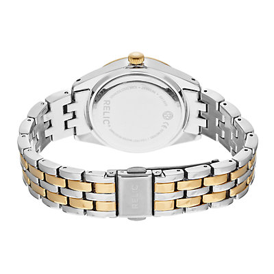 Relic by Fossil Women's Iva Crystal Accent Two Tone Watch